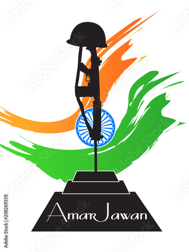 nice and beautiful abstract or poster for Kargil Vijay Diwas or Amar