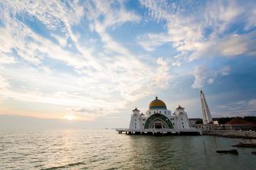 Melaka Straits Mosque in Malacca