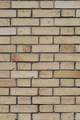 Mur de briques jaunes. détail