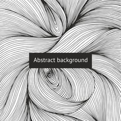 Abstract vector background with intricate intertwining lines