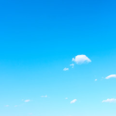 Almost clear blue sky in fine weather