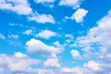 Heaven - blue sky with white clouds