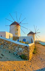 Old windmills of Mykonos