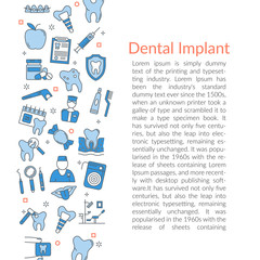 Vertical dental Text Card Template
