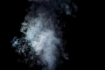 abstract background with white smoke on black