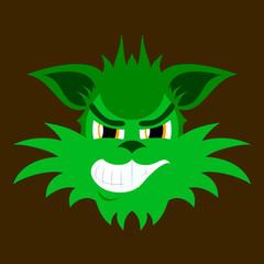 flat icon on theme evil animal coyote