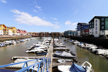 Exmouth marina in Devon
