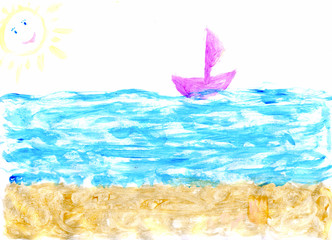 child picture sea beach ship