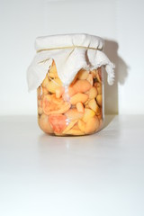 mushrooms pickled mushrooms in a jar
