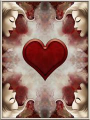 Queen of Hearts Card