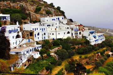 The village of Kardiani in Tinos island, Greece.