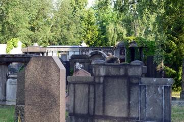Leipzig, Saxony -  June 2018: Alter Israelitischer Friedhof Leipzig - Old Israelite Cemetery Leipzig