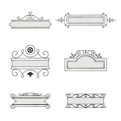 Set of vintage decorative vector frames