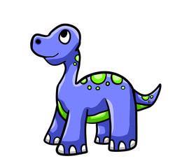 Happy Blue Dinosaur