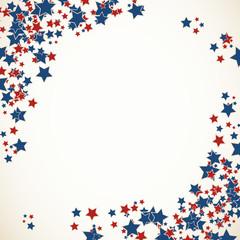 American patriotic background frame