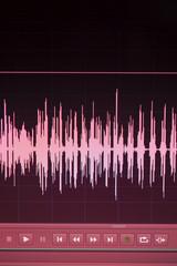Audio sound wave studio editing
