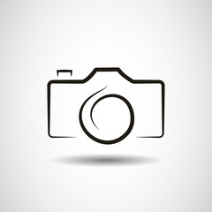 Camera icon design abstract