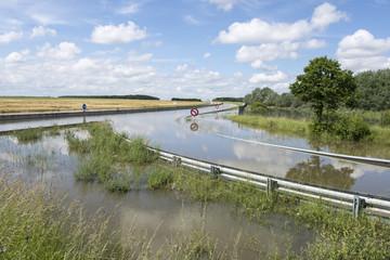 Route nationale inondé suite intempéries