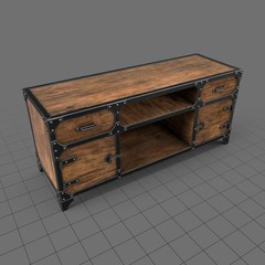 Industrial console desk