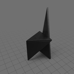Modern triangular chair