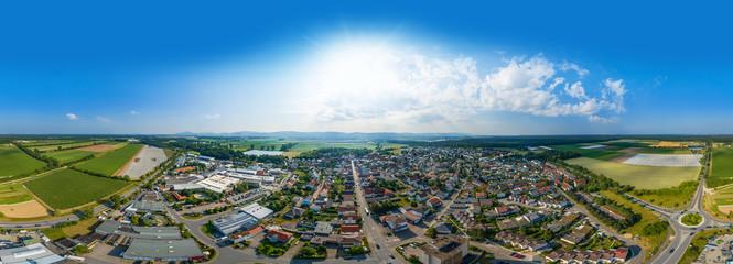 Luftbild Lampertheim Hüttenfeld
