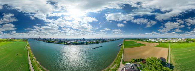 Luftbild Industrie bei Ludwigshafen am Rhein, Friesenheimer Insel