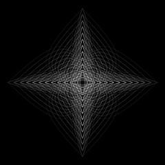 Geometric pattern icon star astrology pentagram symbol