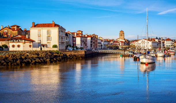 St Jean de Luz Old Town and port, Basque country, France