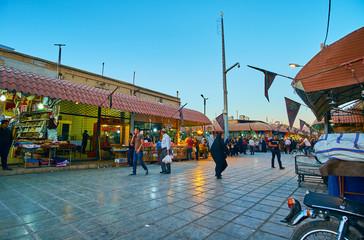 Grand Market street, Kerman, Iran
