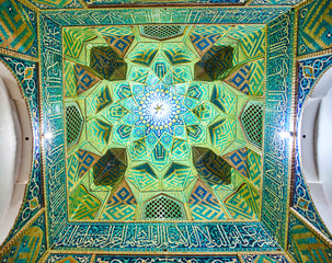 The dome of the gate of Jame Mosque, Kerman, Iran