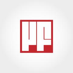 Initial Letter VF Logo Vector Design