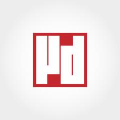 Initial Letter VD Logo Vector Design