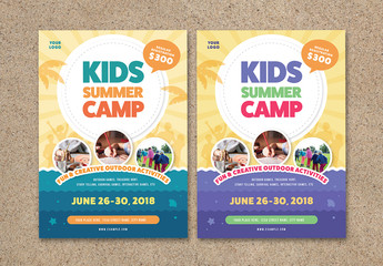Kids Summer Camp Flyer Layout
