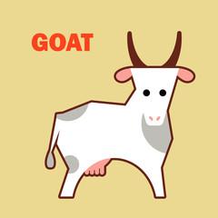 Farm animal goat simple