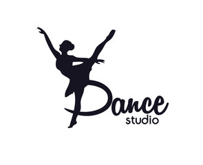 dance club logo,Ballerina in dance logo. Perfect for ballet school or studio