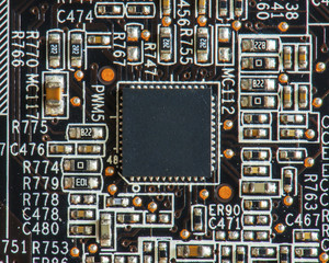 microprocessor chip in circuit motherboard computer