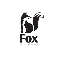 Stand fox logo look back