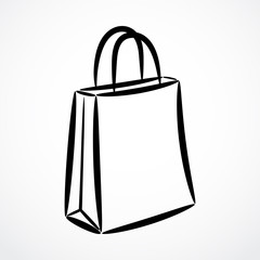 Contour sale bag, isolated vector