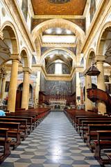 interior of the basilica cathedral of s. Agata v. m. 17th century  - Gallipoli Salento Italy