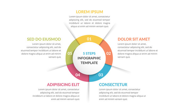 Circle Infographics - Five Elements