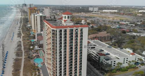 Myrtle Beach Sc April 6 2018 City Buildings And Coastline Aerial