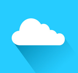 cloud icon over blue background with shadow, stock vector illustration