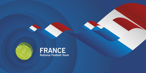 France flag soccer football team abstact stadium background