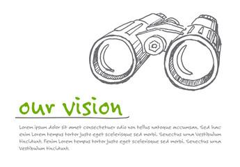 Vison - minimalist concept ilustration
