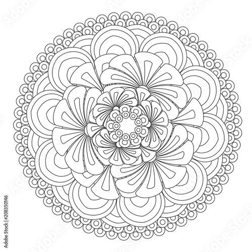 Flower Mandala Vector Illustration Oriental Pattern Vintage Decorative Elements Islam Arabic