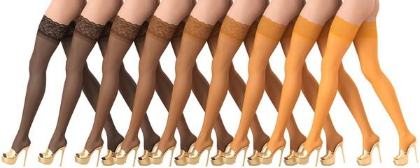 3D illustration colored gradient stockings beautiful legs