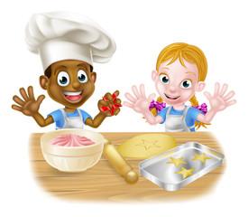 Cartoon Kids Baking