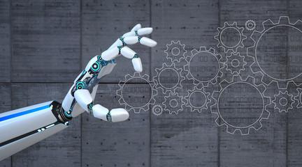 Robot Hand Gears Flat Wall mural