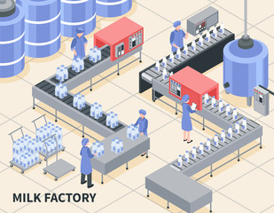 Milk Factory Illustration