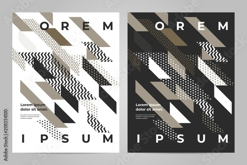 Brochure design template vector  Abstract square cover book